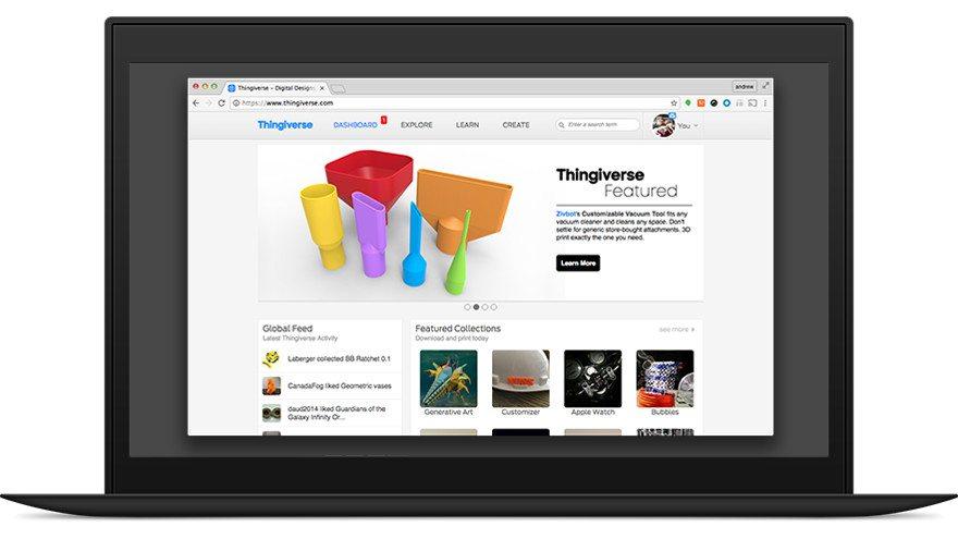 MakerBot Thingiverse 3D Design Download
